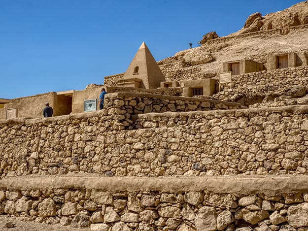 Temples and Tombs of the Artisans in the ancient village of Deir el-Medina in what is present day Luxor, Egypt