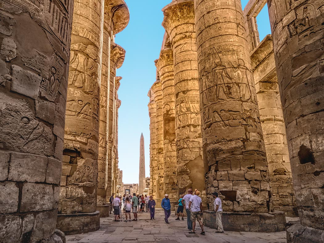 great hypostyle hall at karnak temple in luxor egypt