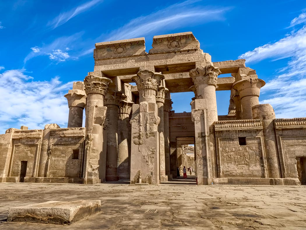 Kom Ombo Temple, near Aswan in Upper Egypt, is the only temple in Egypt dedicated to two separate gods