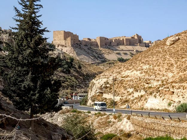 Kerak Crusader Castle, the only site I saw on my drive to Petra, since the driver decided to take a different route than my hotel had promised.