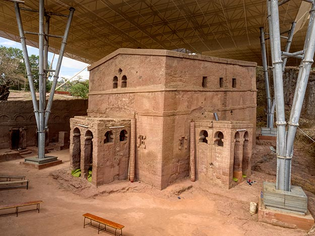 Bete Maryam in the northeastern group of rock-hewn churches of Lalibela