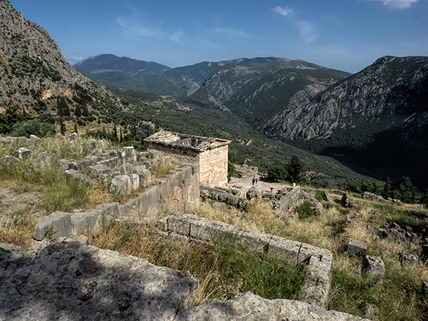 The Oracle of Delphi is said to still exist beneath the tumble-down foundation of the Temple of Apollo at Delphi, Greece