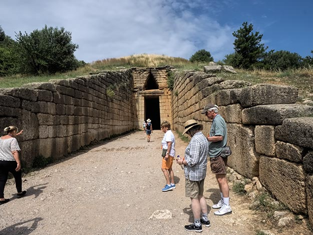 Tomb of King Agamemnon near the Citadel of Mycenae, best known for his role in the Trojan War