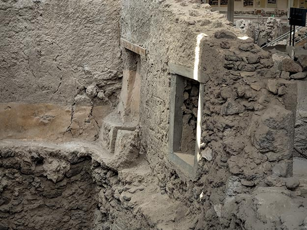 The toilet on the second floor of this building in ancient Akrotiri is more proof that the culture was advanced