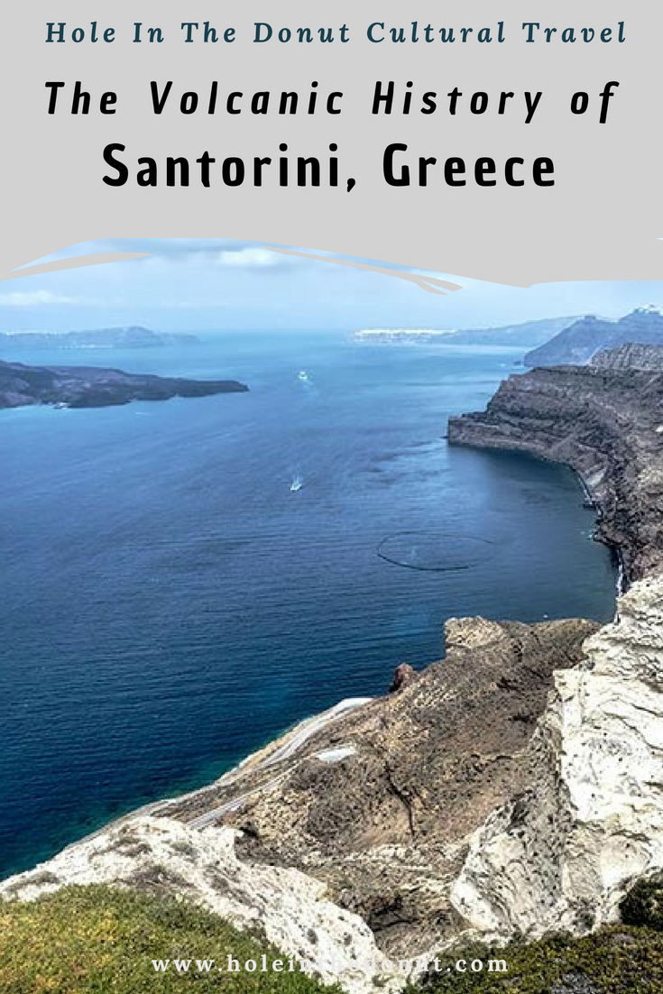 Throughout its history, the Greek island of Santorini has been shaped by volcanism. The island first appeared about 2 million years ago when volcanic craters emerged from the Aegean Sea and united into a small round island with a caldera in the center. Around 1450 B.C., Santorini suffered one of the largest volcanic eruptions ever recorded on Earth, which broke the island into three pieces, allowing the sea to rush in and flood the caldera of the volcano.