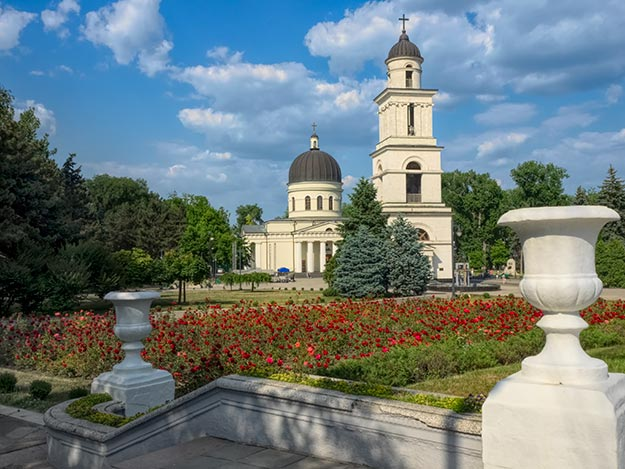 Bell Tower and Metropolitan Cathedral of Christ's Nativity in Chisinau, Moldova