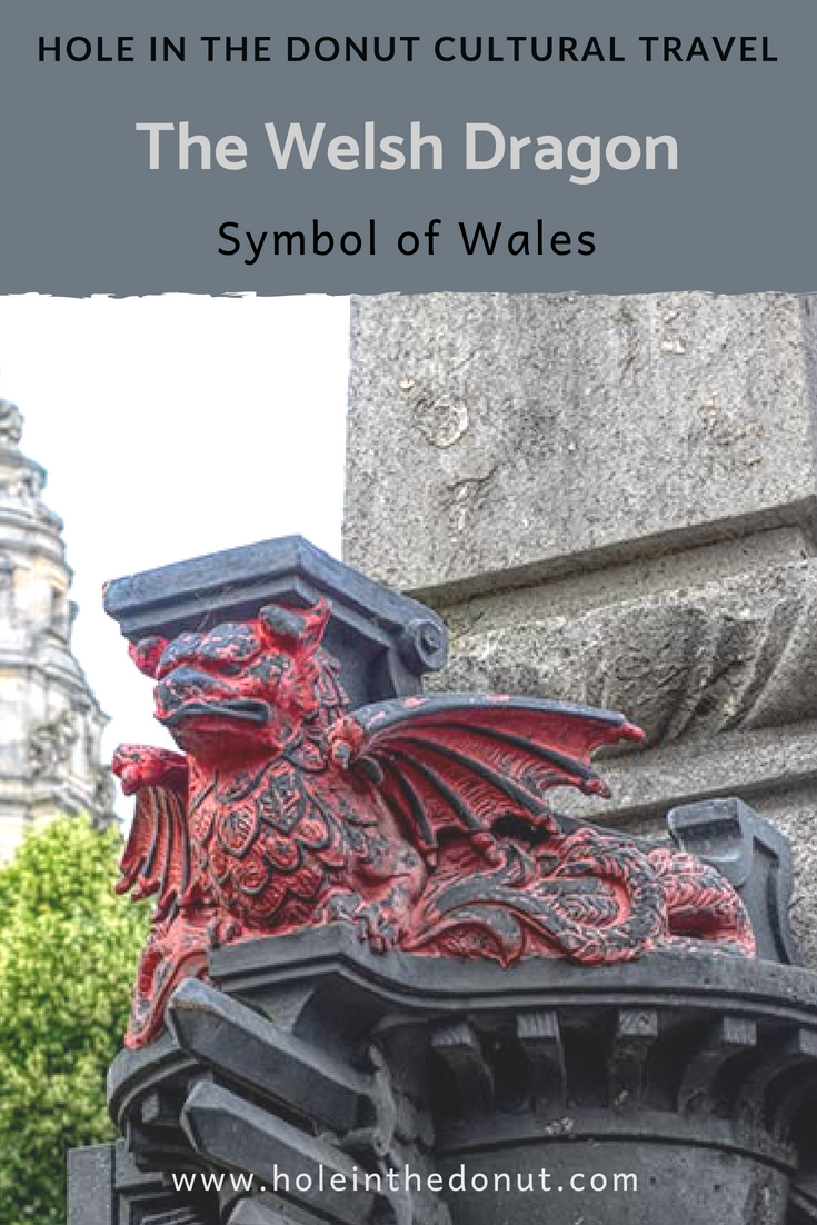 I saw dragons everywhere in Cardiff, Wales. Signs in Caerdydd Park are imprinted with the symbol and a stone Welsh dragon tops the dome of the City Hall.