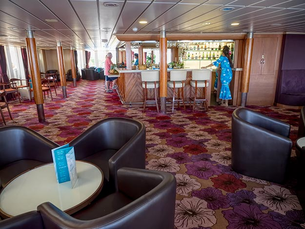 One of the lounges aboard the Aranui 5
