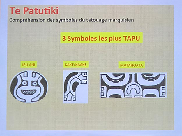 Three most important motifs for tattoos in the Marquesas Islands