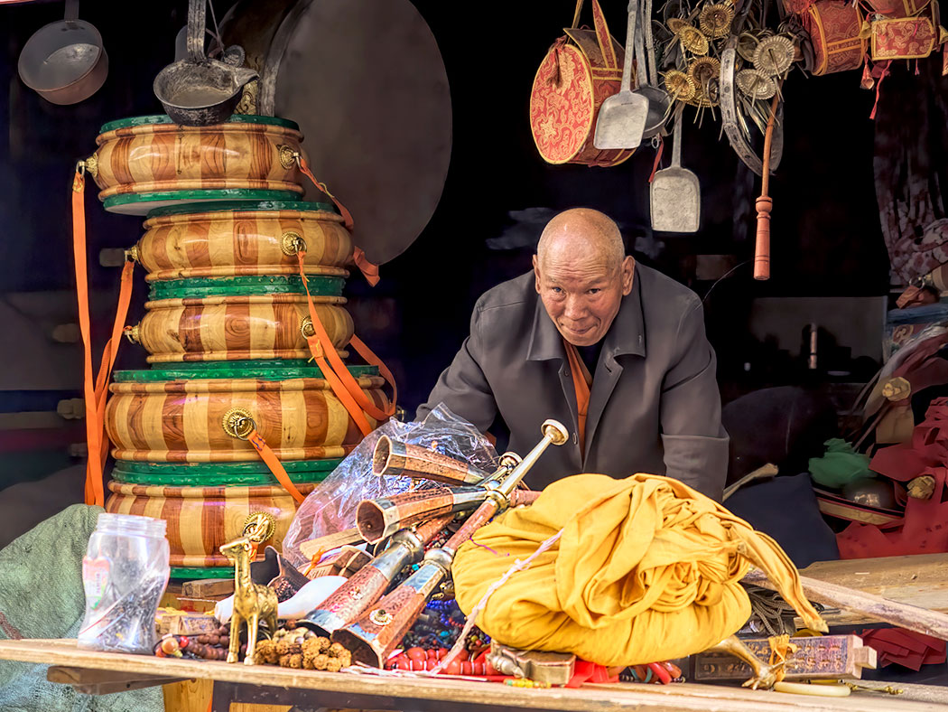 Shop in Old Lhasa offers an eclectic mix of merchandise