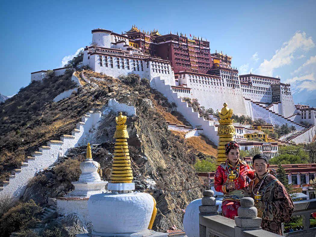 The Potala Palace in Lhasa, capital of the autonomous region of Tibet in China