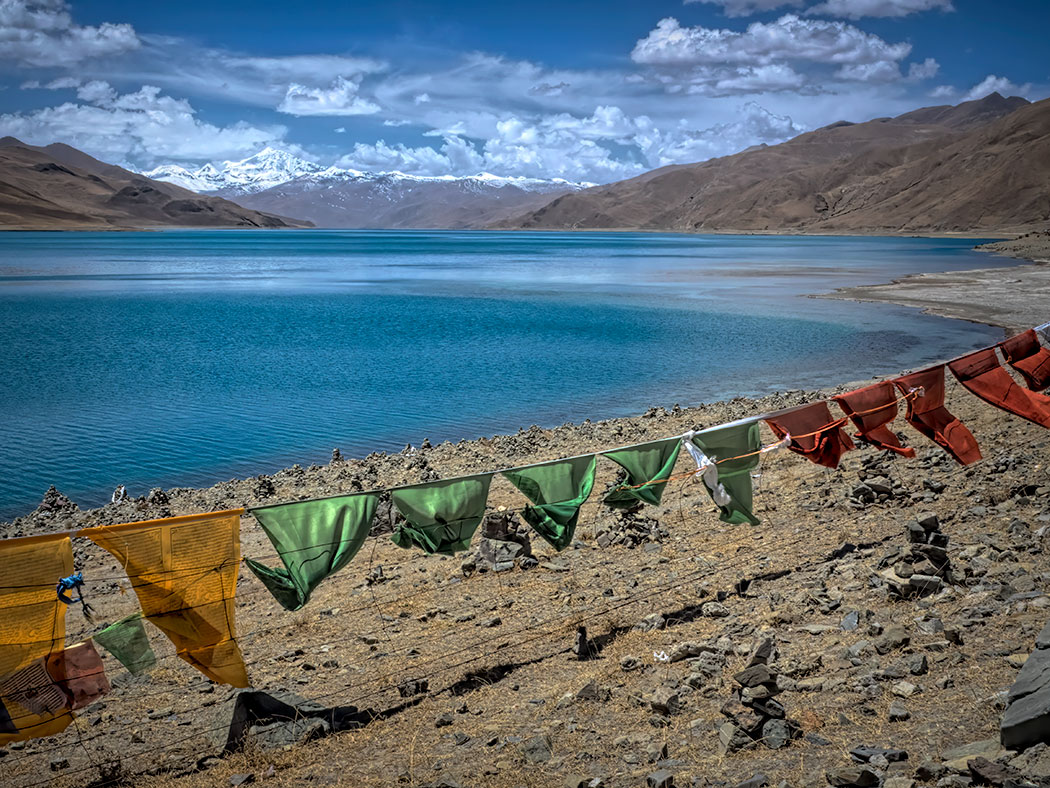 Yamdrok Lake, one of the most sacred lakes in Tibet