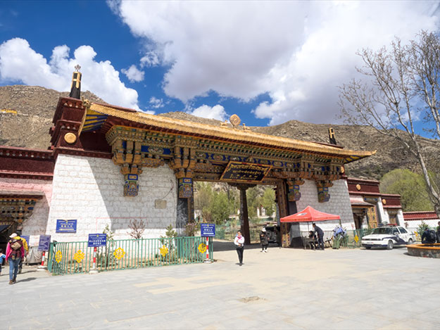 Entrance to Sera Monastery, another revered holy site in Lhasa, Tibet