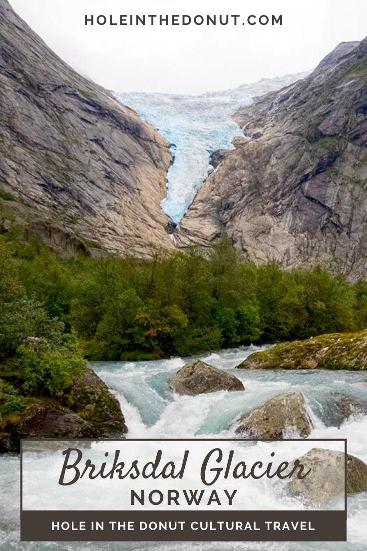 To see the Briksdal Glacier in Norway, visitors can either walk the trail in Jostedalsbreen National Park or ride in a Troll Car, followed by a short walk.