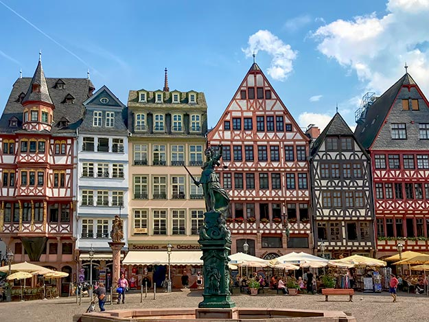 The top site to see if you only have one day in Frankfurt, Germany. These half-timbered wooden houses are located in the main square of the city, known as Romerberg