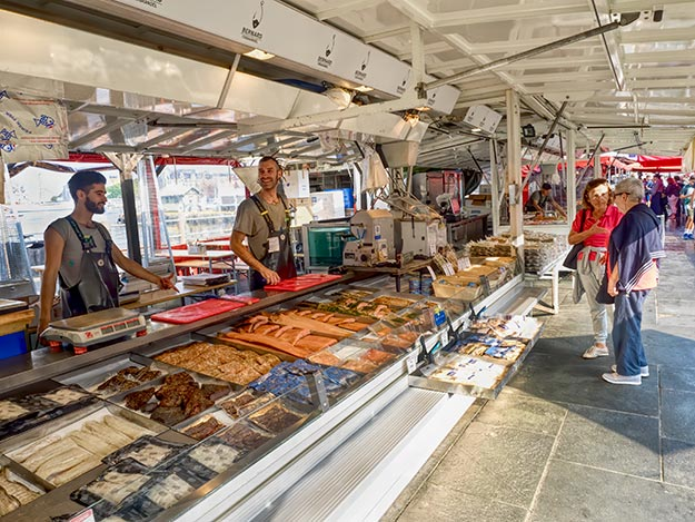 The open-air Fish Market at the waterfront in Bergen