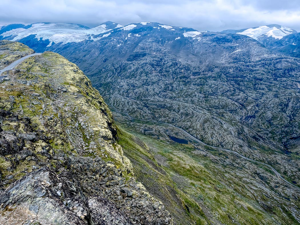 Geiranger Skywalk atop Dalsnibba Mountain viewpoint in Norway