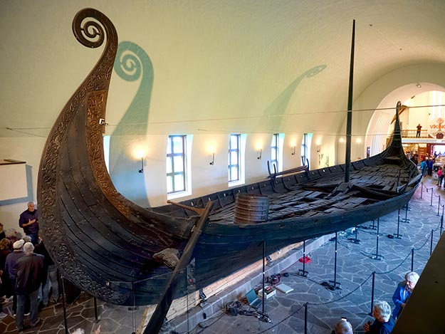 Oseberg Grave Ship at the Viking Ship Museum in Oslo, Norway