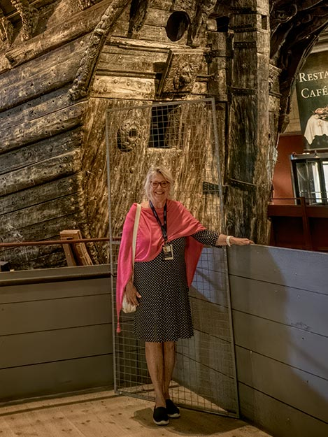 My guide at the Vasa Museum, Ewa Ogren, relates her story of seeing the Vasa ship raised from Stockholm Harbour when she was a 12-year old girl