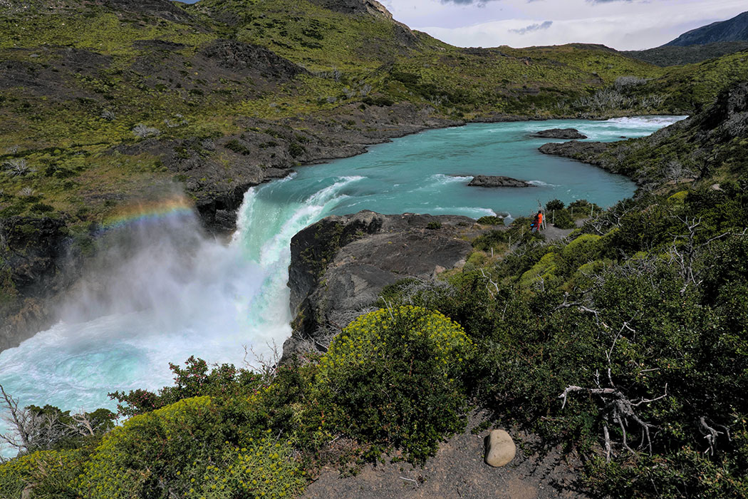 Salto Grande Waterfall ibn Torres del Paine in Patagonia Chile