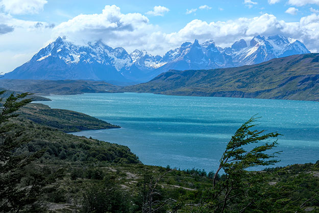 best way to see Torres del Paine - viewpoint over Toro Lake in Chile's Torres del Paine National Park