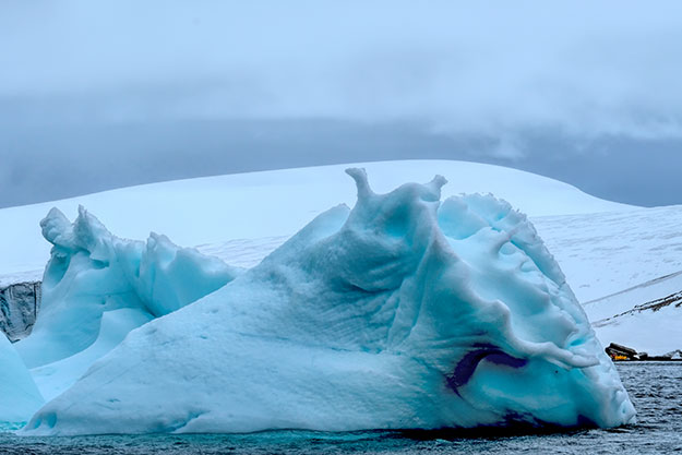 Weirdly shaped icebergs of Antarctica, this one at Brown Bluff on the Tabarin Peninsula