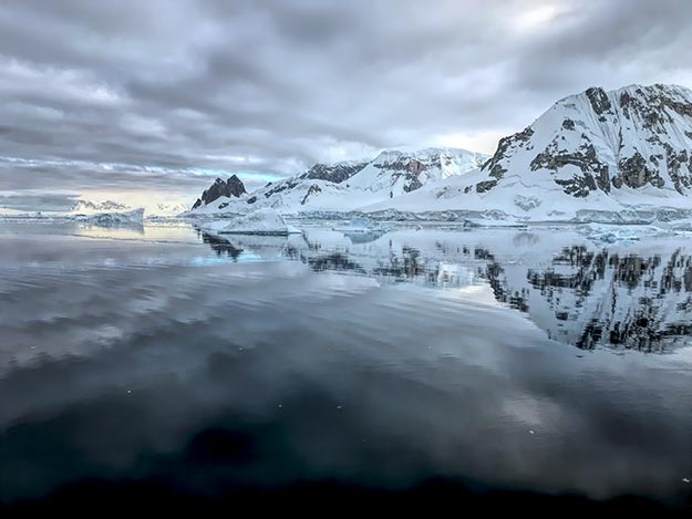 Dawn in Paradise Harbour, Antarctica