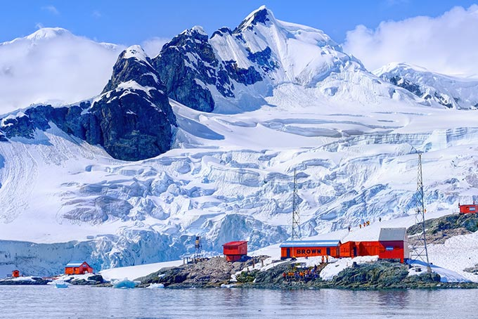 Argentinian Research Station Almirante Brown at Paradise Harbour