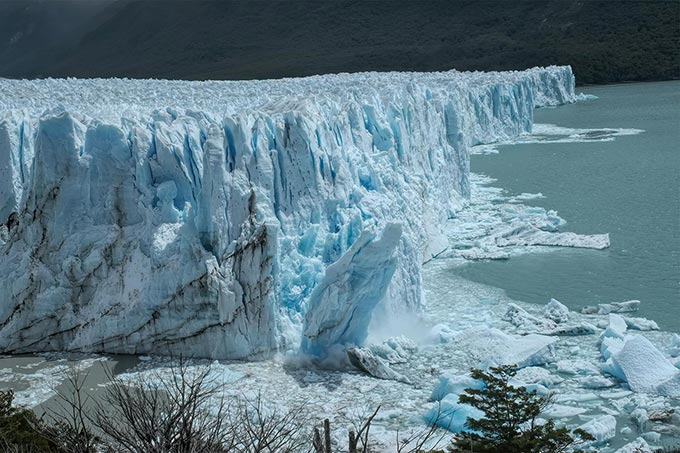 Perito Moreno glacier in El Calafate, Argentina, provides one of the best opportunities in the world to witness glaciers calving