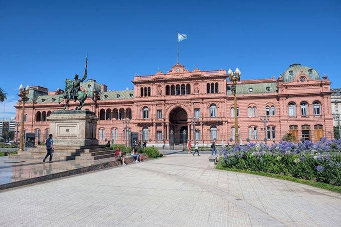 Casa Rosada (Pink House) is the executive mansion and office of the President of Argentina