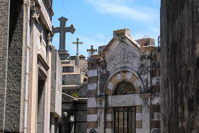 Recoleta Cemetery, in the center of one of the nicest neighborhoods in Buenos Aires