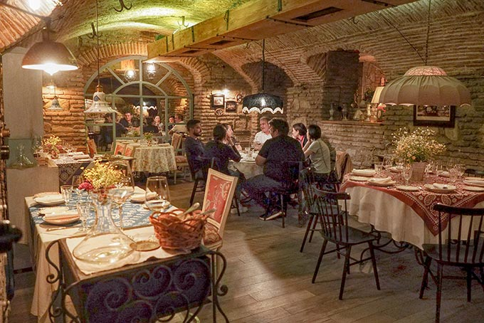 Cellar dining room at Restaurant Barbarestan