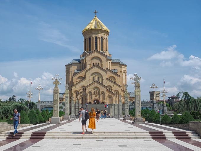 Massive Holy Trinity Cathedral in Tbilisi, Georgia