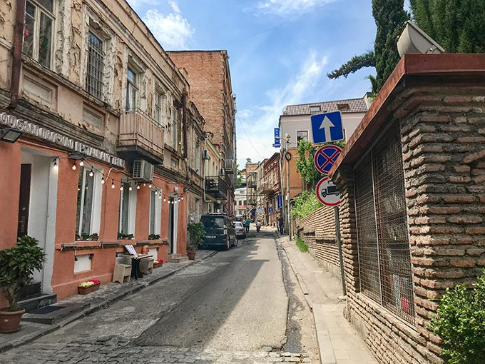 Another of the historic lanes on the hillside above Tbilisi's Old Town