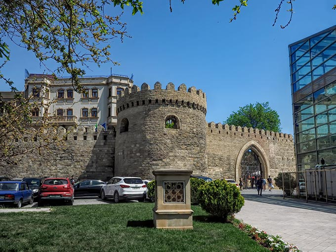 Walls and citadel of the Old City in Baku